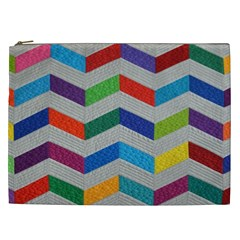 Charming Chevrons Quilt Cosmetic Bag (xxl)