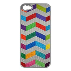 Charming Chevrons Quilt Apple Iphone 5 Case (silver) by BangZart