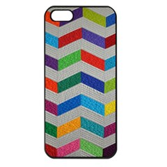 Charming Chevrons Quilt Apple Iphone 5 Seamless Case (black)