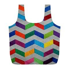 Charming Chevrons Quilt Full Print Recycle Bags (l)