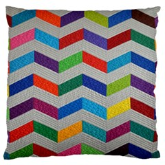 Charming Chevrons Quilt Standard Flano Cushion Case (two Sides)