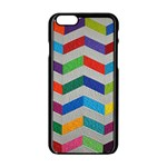 Charming Chevrons Quilt Apple iPhone 6/6S Black Enamel Case Front