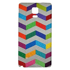 Charming Chevrons Quilt Galaxy Note 4 Back Case by BangZart