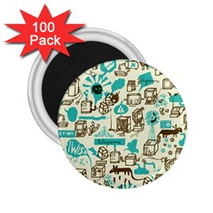 Telegramme 2 25  Magnets (100 Pack)