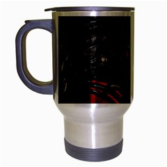 Black Dragon Grunge Travel Mug (silver Gray)