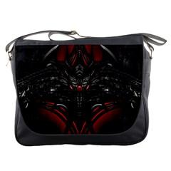 Black Dragon Grunge Messenger Bags