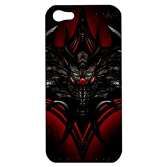 Black Dragon Grunge Apple Iphone 5 Hardshell Case