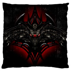 Black Dragon Grunge Large Flano Cushion Case (two Sides) by BangZart