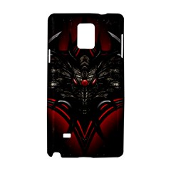 Black Dragon Grunge Samsung Galaxy Note 4 Hardshell Case by BangZart