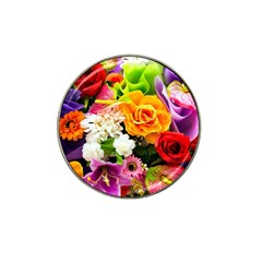 Colorful Flowers Hat Clip Ball Marker