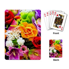 Colorful Flowers Playing Card