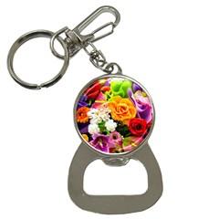 Colorful Flowers Button Necklaces