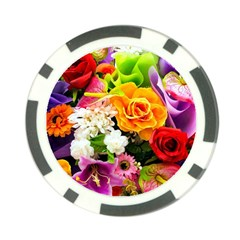 Colorful Flowers Poker Chip Card Guard (10 Pack)