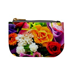 Colorful Flowers Mini Coin Purses
