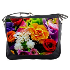 Colorful Flowers Messenger Bags