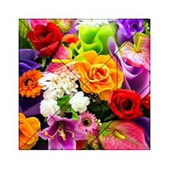 Colorful Flowers Acrylic Tangram Puzzle (6  X 6 )