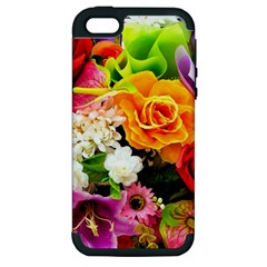 Colorful Flowers Apple Iphone 5 Hardshell Case (pc+silicone)