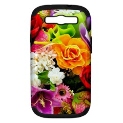 Colorful Flowers Samsung Galaxy S Iii Hardshell Case (pc+silicone)