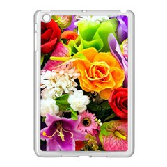Colorful Flowers Apple Ipad Mini Case (white) by BangZart