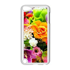 Colorful Flowers Apple Ipod Touch 5 Case (white)
