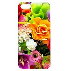 Colorful Flowers Apple Iphone 5 Hardshell Case With Stand