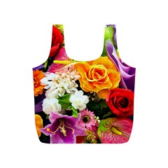 Colorful Flowers Full Print Recycle Bags (s)