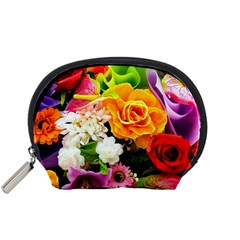 Colorful Flowers Accessory Pouches (small)  by BangZart