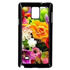Colorful Flowers Samsung Galaxy Note 4 Case (black)