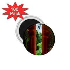 Beautiful World Entry Door Fantasy 1 75  Magnets (100 Pack)