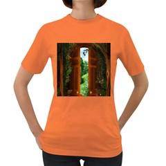 Beautiful World Entry Door Fantasy Women s Dark T Shirt