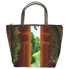 Beautiful World Entry Door Fantasy Bucket Bags