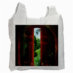 Beautiful World Entry Door Fantasy Recycle Bag (two Side)