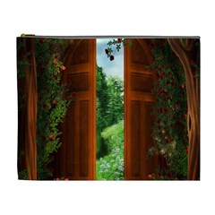 Beautiful World Entry Door Fantasy Cosmetic Bag (xl) by BangZart