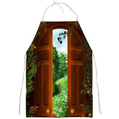 Beautiful World Entry Door Fantasy Full Print Aprons by BangZart