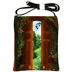 Beautiful World Entry Door Fantasy Shoulder Sling Bags