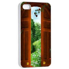 Beautiful World Entry Door Fantasy Apple Iphone 4/4s Seamless Case (white) by BangZart