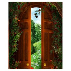 Beautiful World Entry Door Fantasy Drawstring Bag (small)