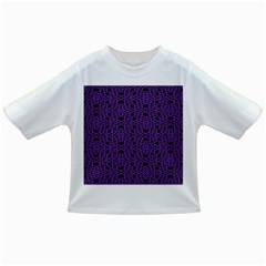 Triangle Knot Purple And Black Fabric Infant/toddler T Shirts