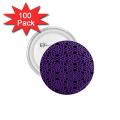 Triangle Knot Purple And Black Fabric 1 75  Buttons (100 Pack)