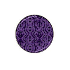 Triangle Knot Purple And Black Fabric Hat Clip Ball Marker (4 Pack) by BangZart