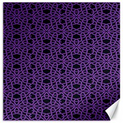 Triangle Knot Purple And Black Fabric Canvas 12  X 12