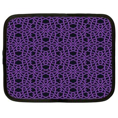 Triangle Knot Purple And Black Fabric Netbook Case (xxl)