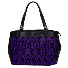 Triangle Knot Purple And Black Fabric Office Handbags