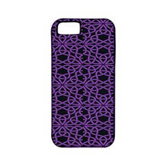 Triangle Knot Purple And Black Fabric Apple Iphone 5 Classic Hardshell Case (pc+silicone)