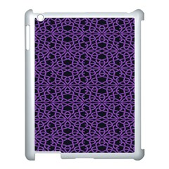 Triangle Knot Purple And Black Fabric Apple Ipad 3/4 Case (white)