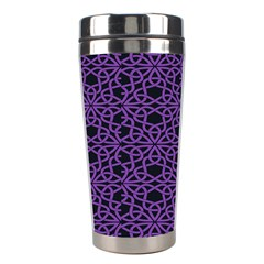 Triangle Knot Purple And Black Fabric Stainless Steel Travel Tumblers by BangZart