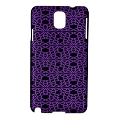 Triangle Knot Purple And Black Fabric Samsung Galaxy Note 3 N9005 Hardshell Case