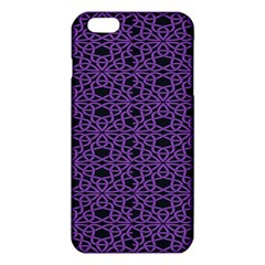 Triangle Knot Purple And Black Fabric Iphone 6 Plus/6s Plus Tpu Case