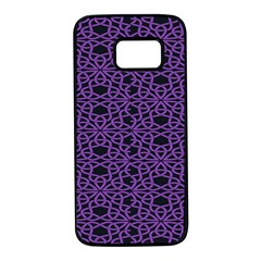 Triangle Knot Purple And Black Fabric Samsung Galaxy S7 Black Seamless Case