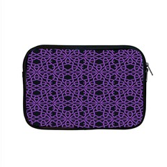 Triangle Knot Purple And Black Fabric Apple Macbook Pro 15  Zipper Case